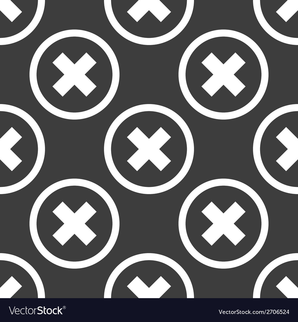 Cancel web icon flat design seamless pattern vector | Price: 1 Credit (USD $1)