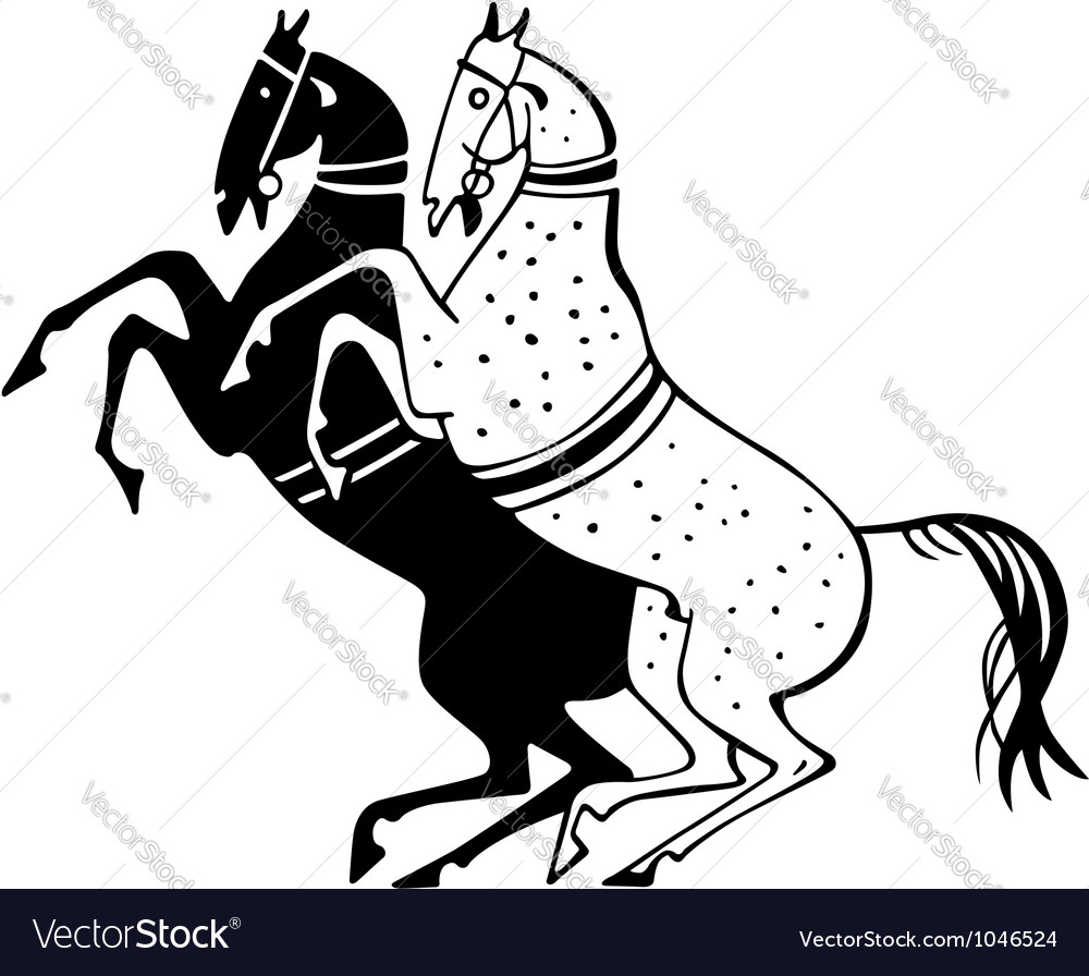 Horses vector | Price: 1 Credit (USD $1)