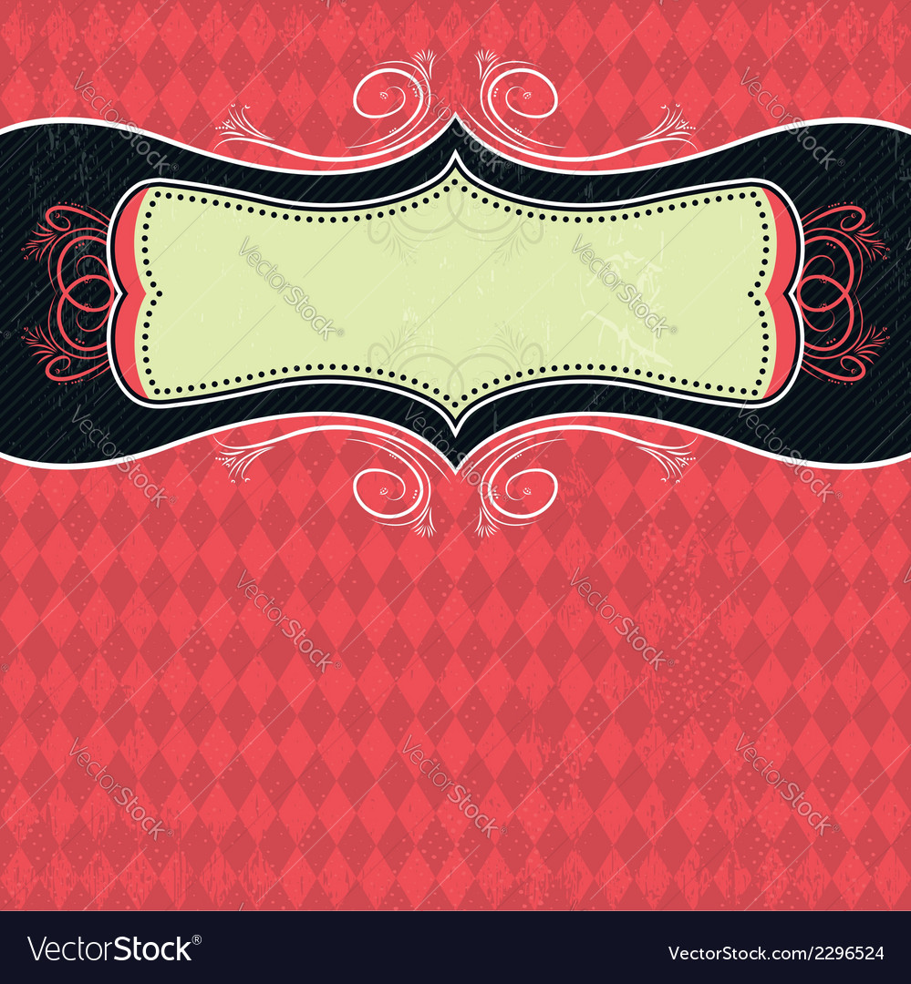 Red background with label vector | Price: 1 Credit (USD $1)