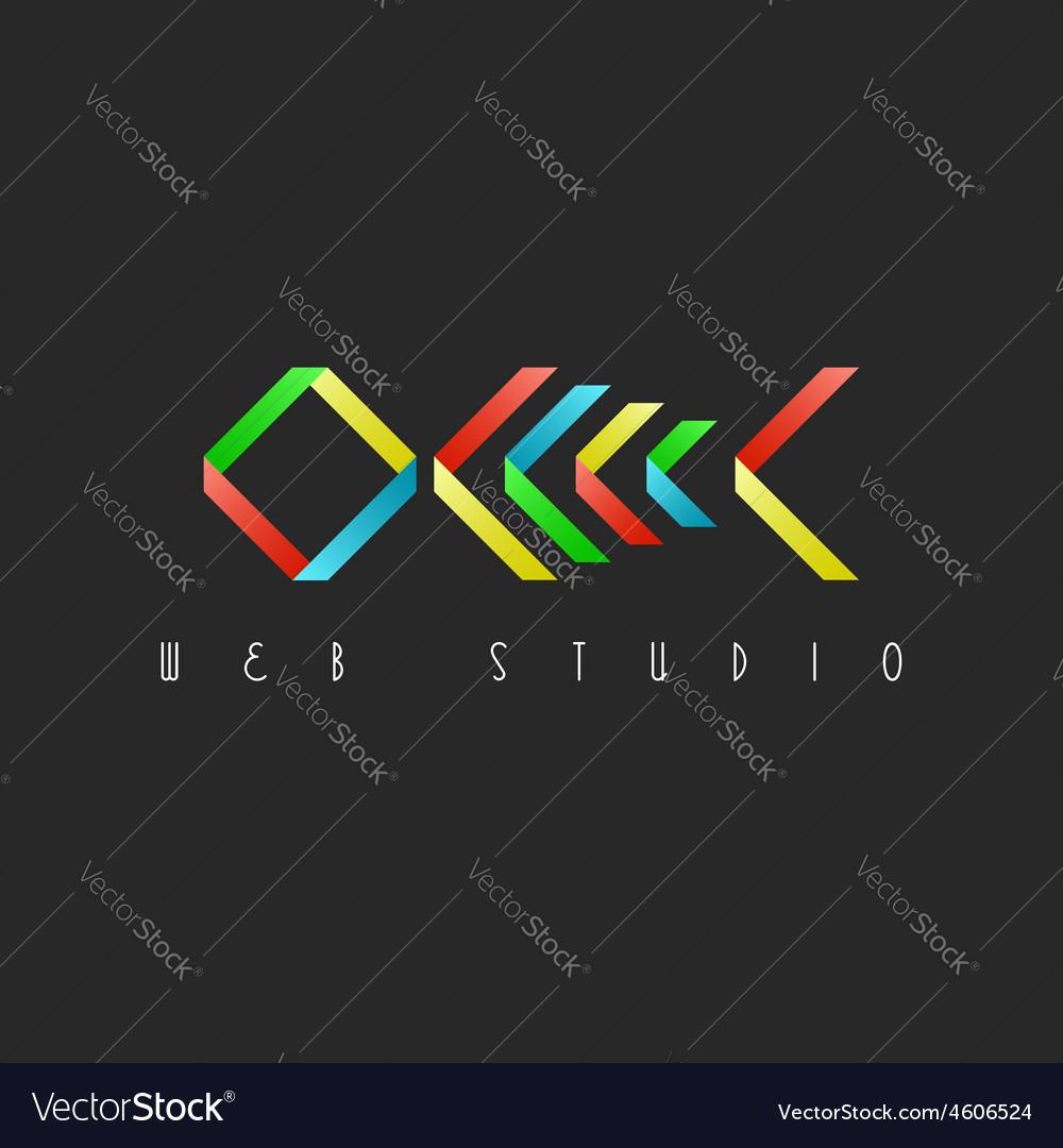 Skeleton fish colorful design logo restaurant idea vector | Price: 1 Credit (USD $1)