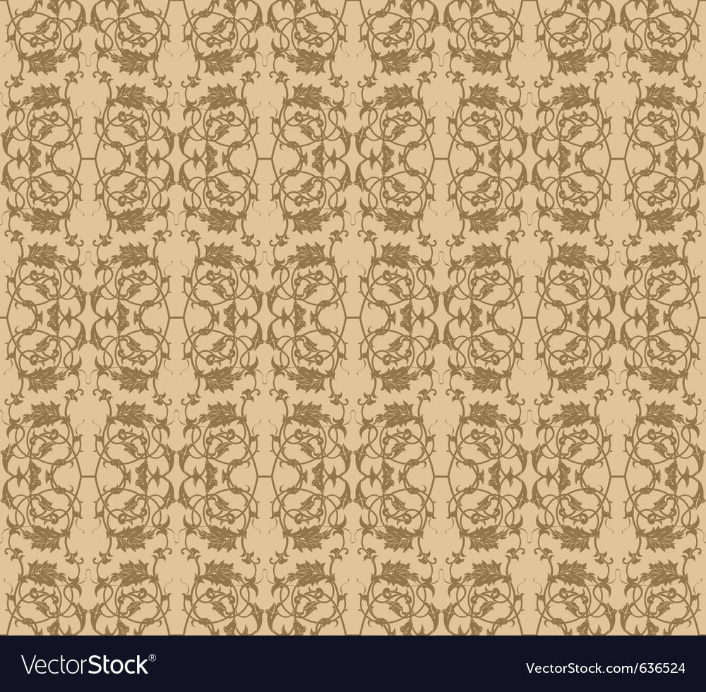 Vintage wallpaper vector | Price: 1 Credit (USD $1)