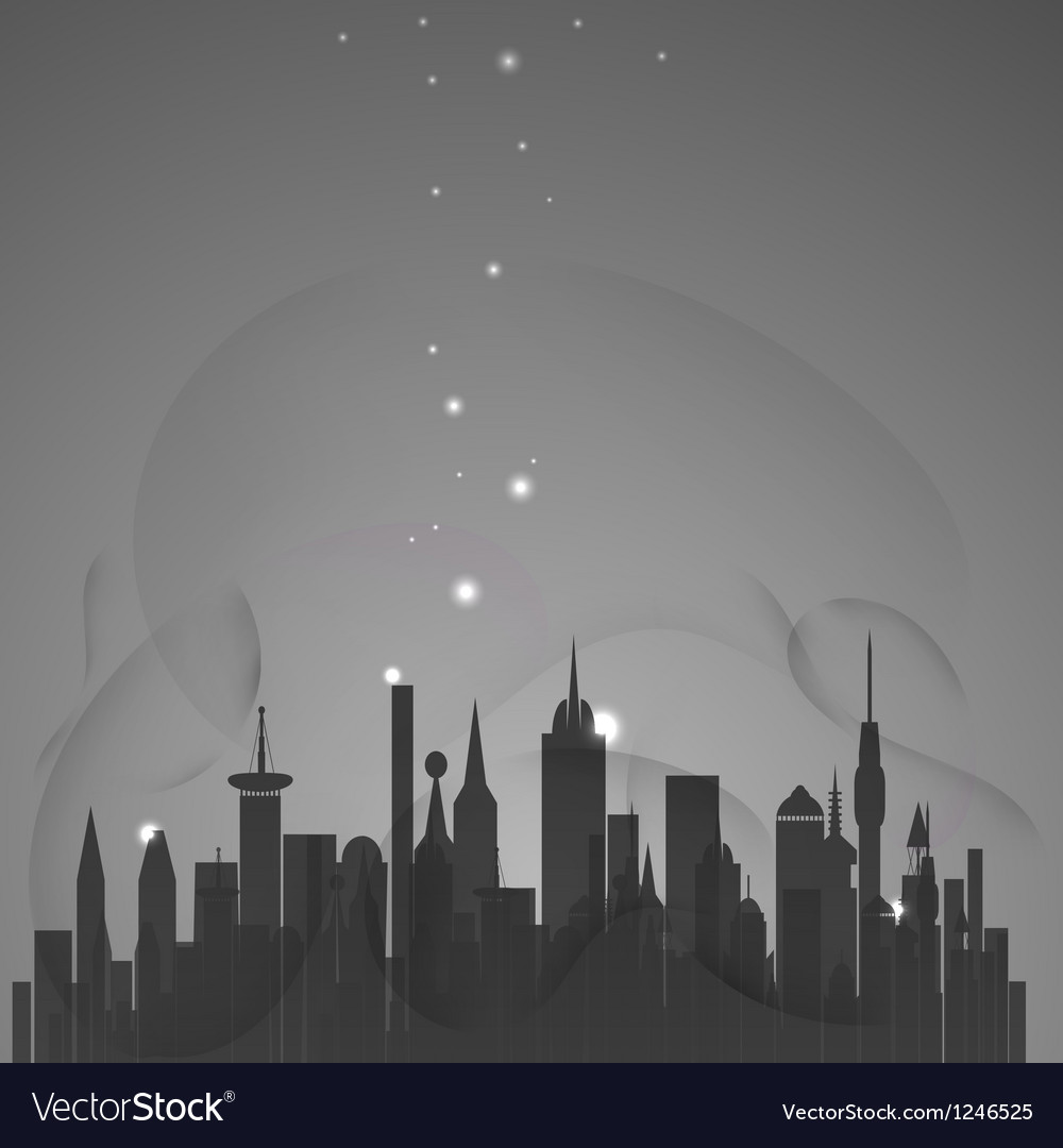 Abstract city with stars vector | Price: 1 Credit (USD $1)