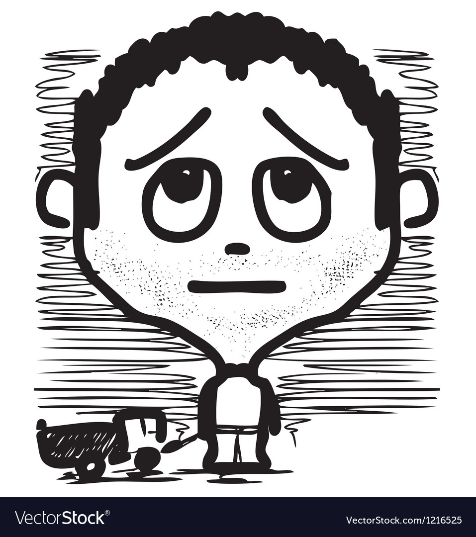 Boy with a toy truck vector | Price: 1 Credit (USD $1)