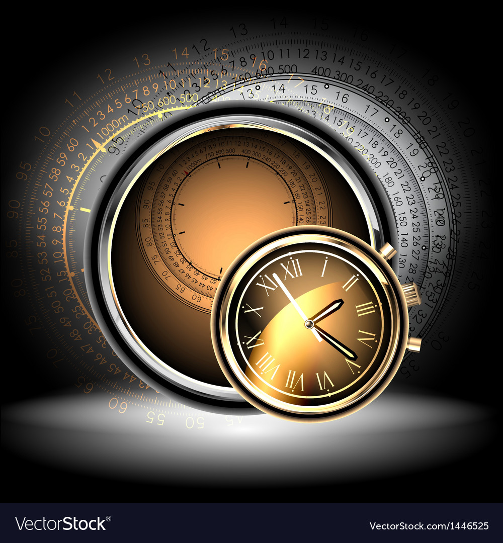 Clocks background vector | Price: 1 Credit (USD $1)