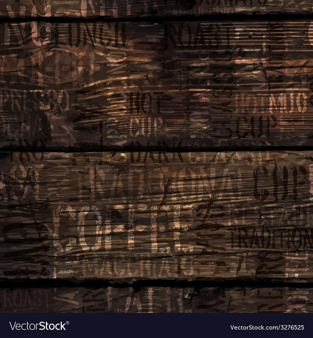 Coffee experience words on wooden texture vector | Price: 1 Credit (USD $1)