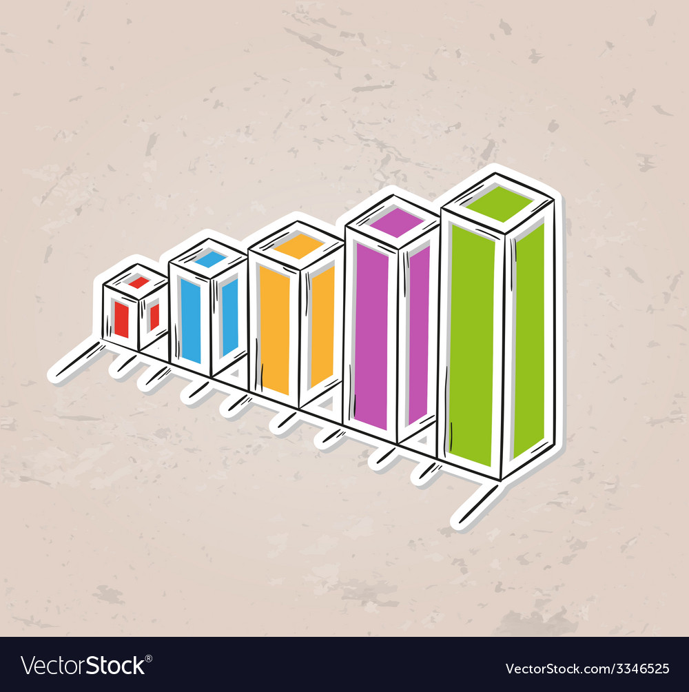 Color sketch of the bar chart vector | Price: 1 Credit (USD $1)