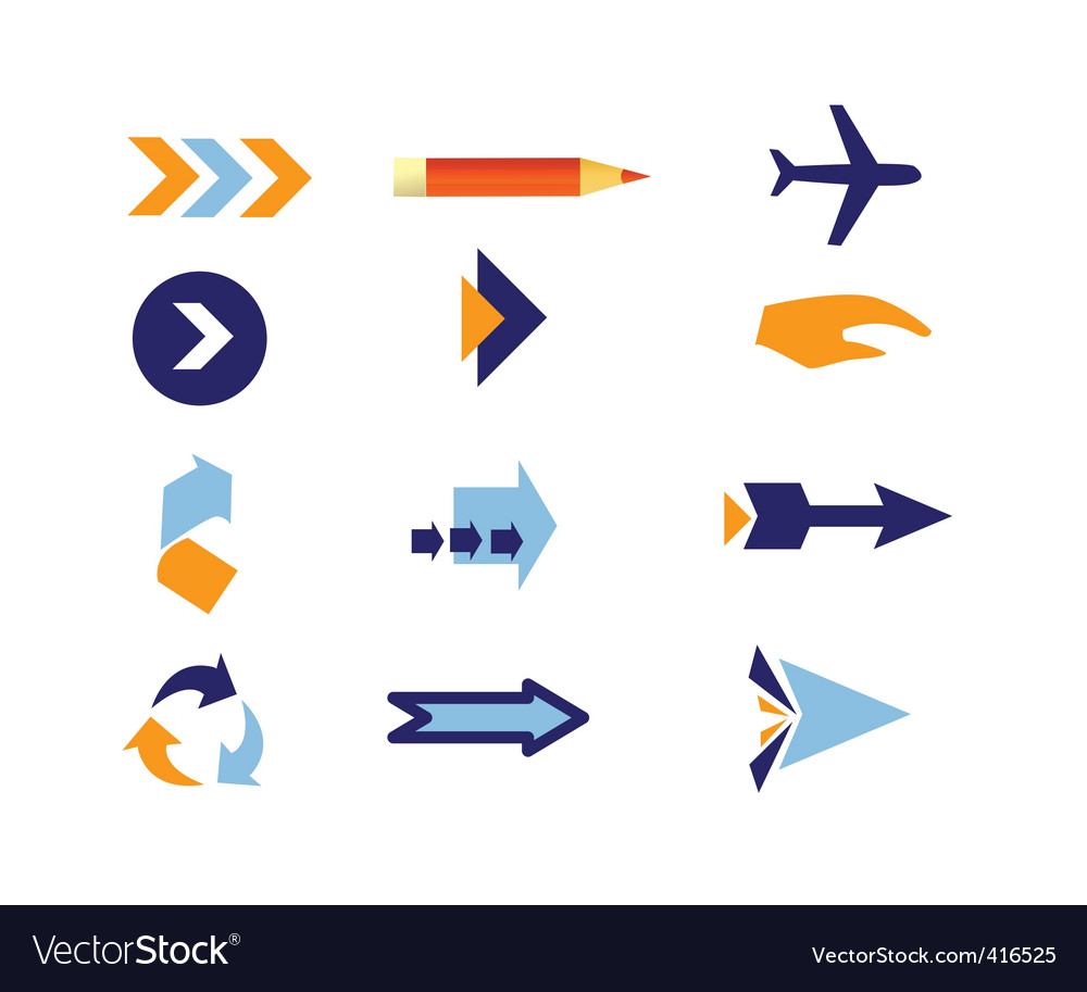 Direction icons vector | Price: 1 Credit (USD $1)