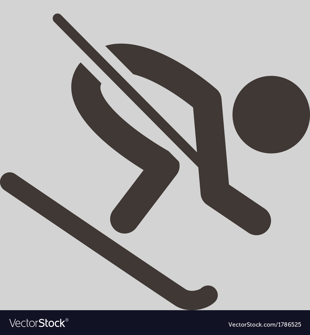 Downhill skiing vector | Price: 1 Credit (USD $1)