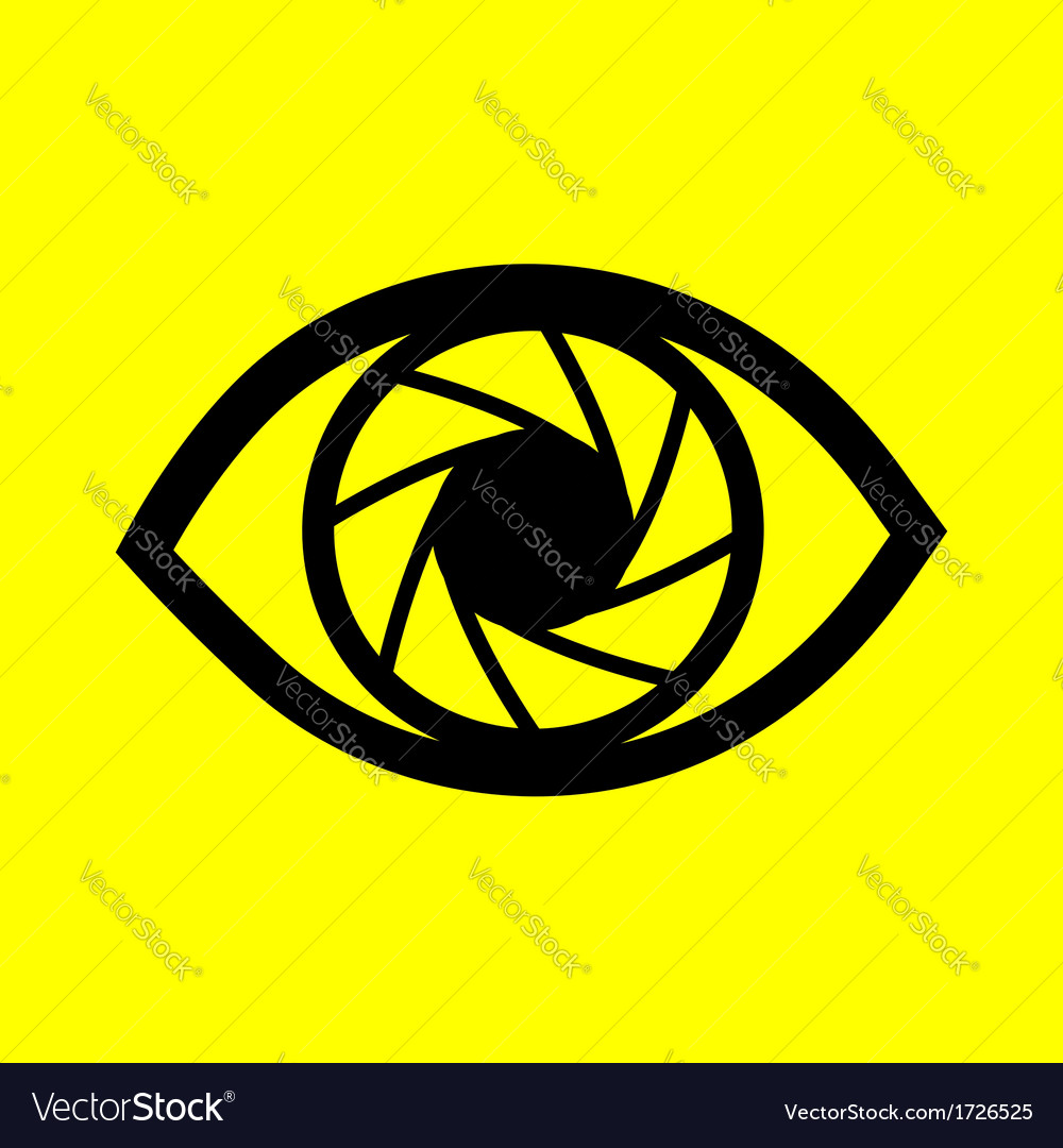 Eye on a yellow background vector | Price: 1 Credit (USD $1)