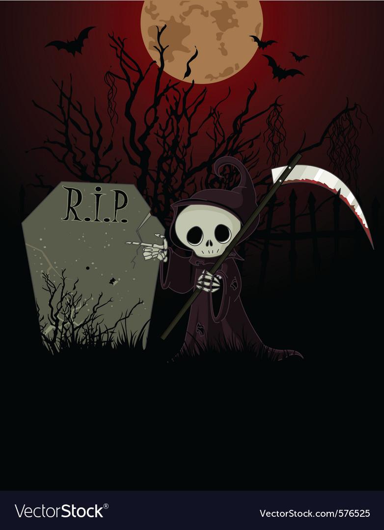 Grim reaper cartoon vector | Price: 1 Credit (USD $1)