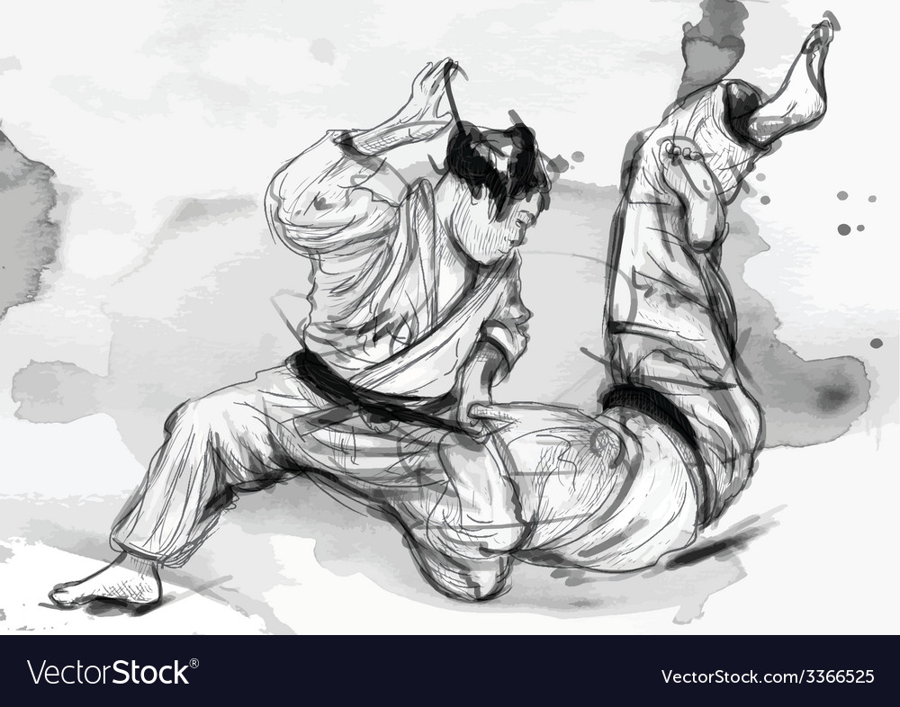 Judo - hand drawn converted into vector | Price: 1 Credit (USD $1)