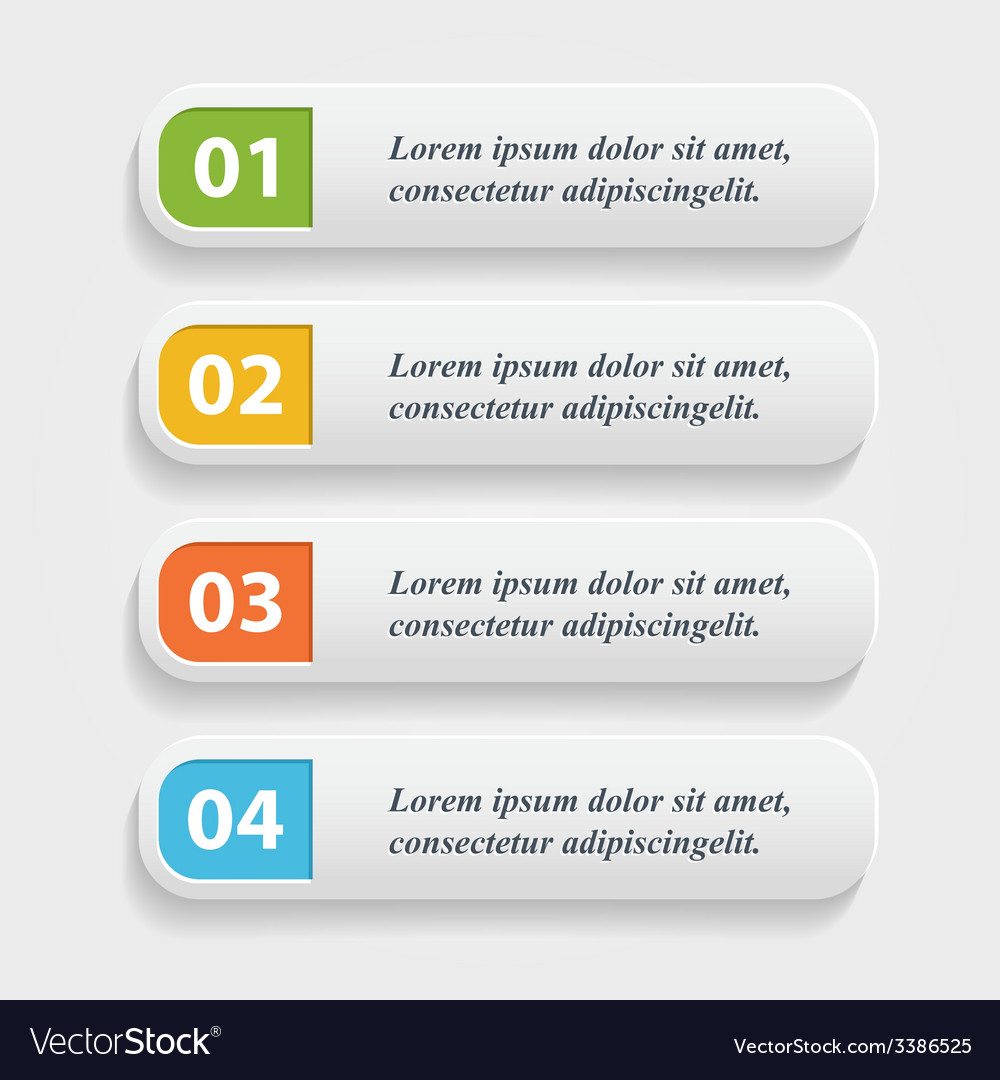 Realistic web buttonsbannerinfographic vector   Price: 1 Credit (USD $1)