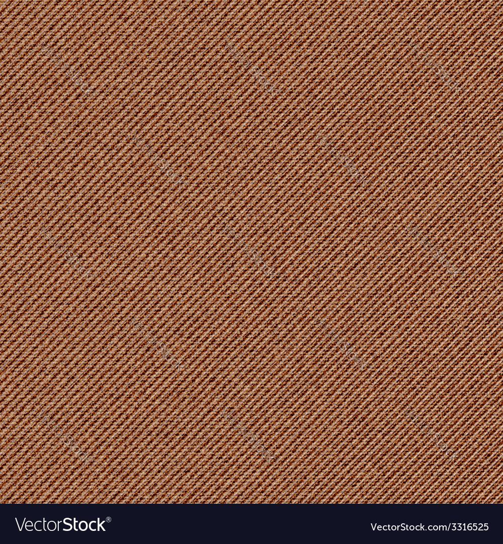 Seamless texture of brown denim diagonal hem vector | Price: 1 Credit (USD $1)