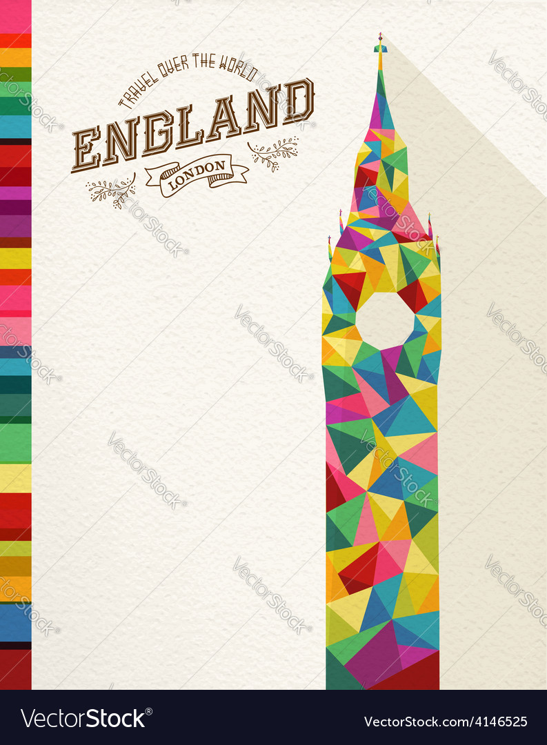 Travel england landmark polygonal monument vector | Price: 1 Credit (USD $1)