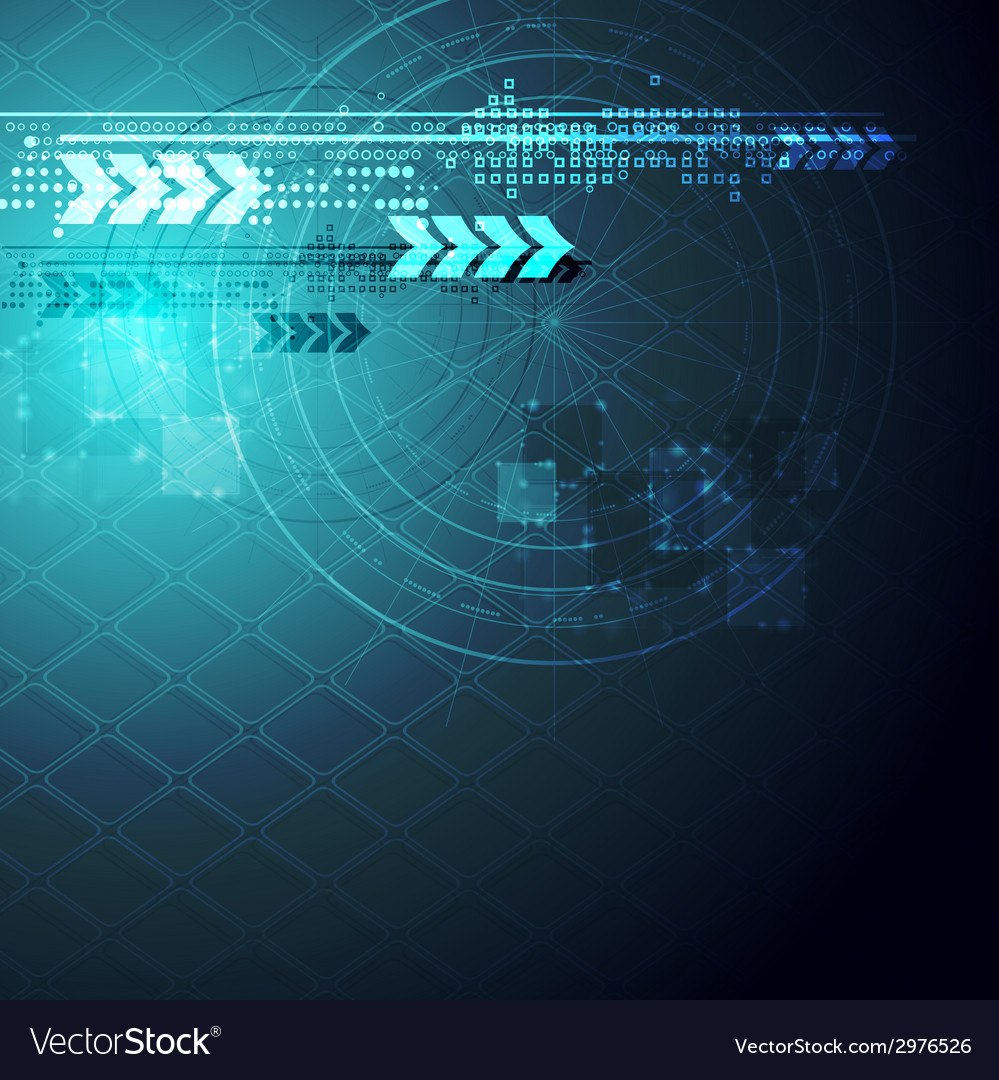 Abstract blue hi-tech background vector | Price: 1 Credit (USD $1)