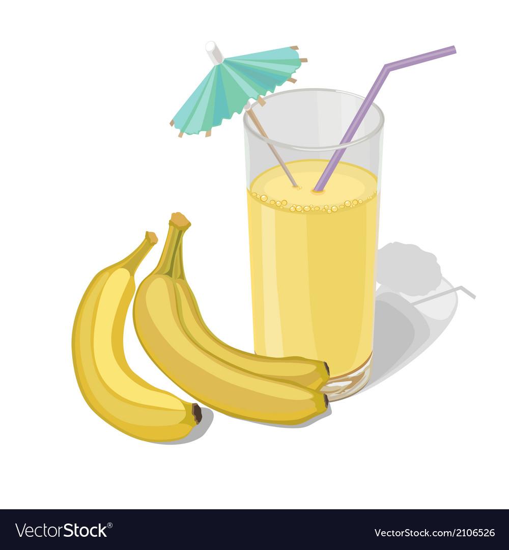 Banana juice vector | Price: 1 Credit (USD $1)