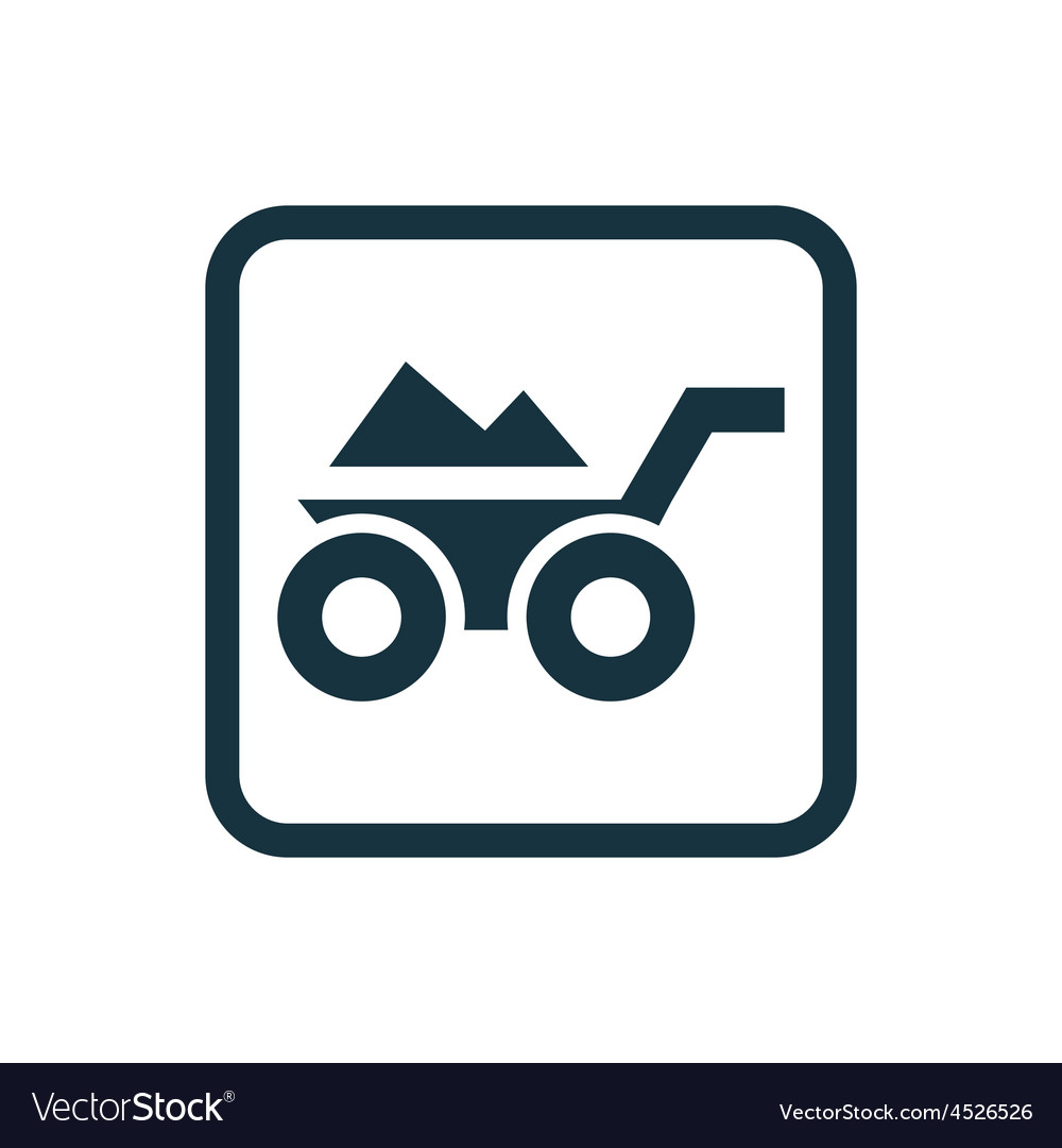Construction wheelbarrow icon rounded squares vector | Price: 1 Credit (USD $1)