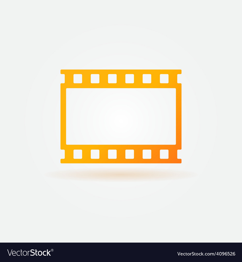 Gold film strip logo vector | Price: 1 Credit (USD $1)