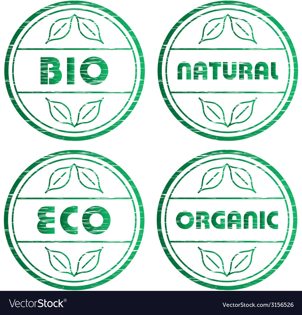 Scratched eco stamps vector | Price: 1 Credit (USD $1)