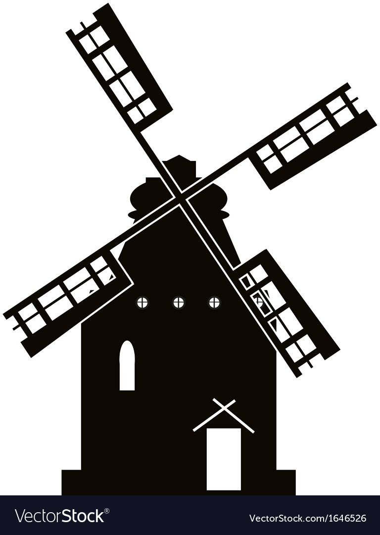 Windmill sign vector | Price: 1 Credit (USD $1)