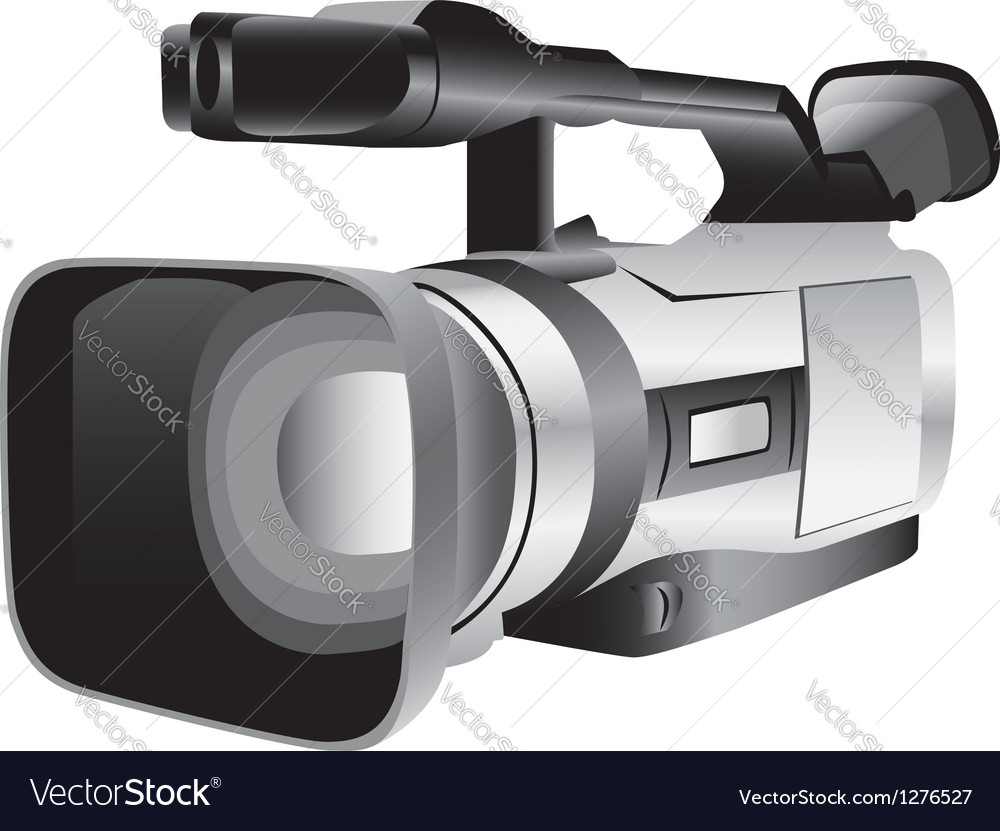 3d of a semi-professional video camera vector | Price: 1 Credit (USD $1)
