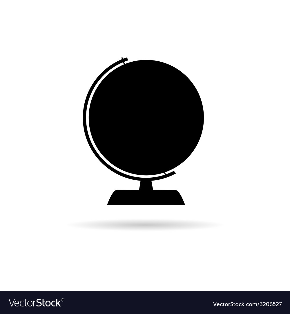 Globe of the world black vector | Price: 1 Credit (USD $1)