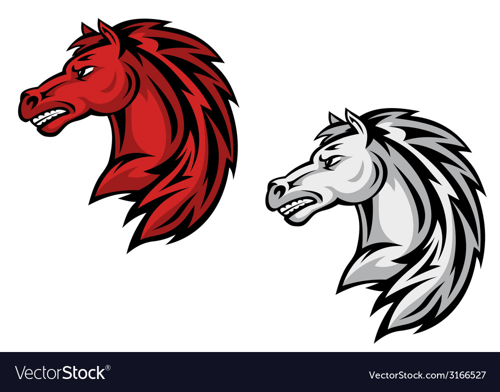 Horse mascots vector | Price: 1 Credit (USD $1)