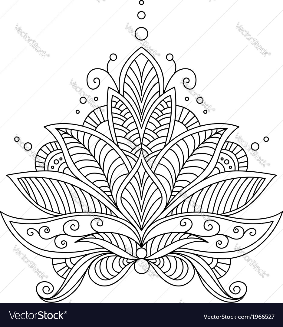 Intricate delicate floral design motif vector | Price: 1 Credit (USD $1)