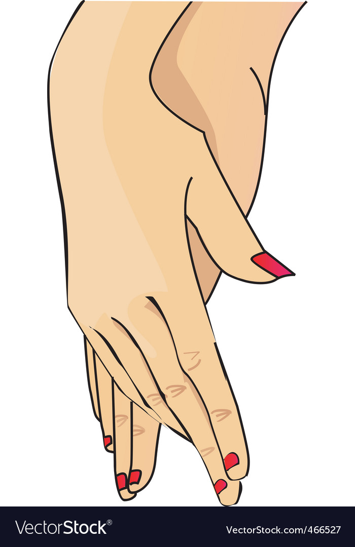 Lady hand vector | Price: 1 Credit (USD $1)
