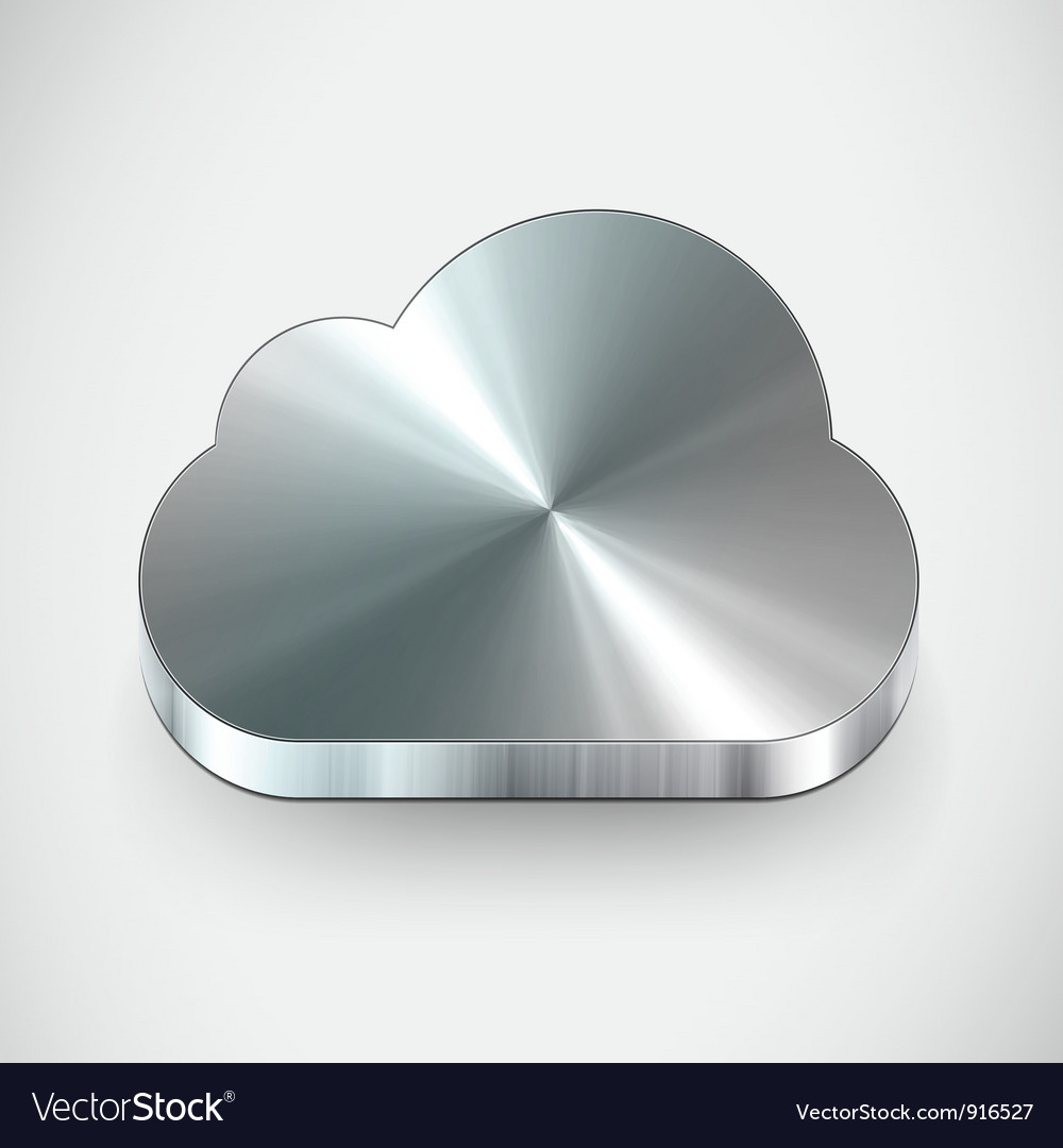 Metal cloud icon vector | Price: 1 Credit (USD $1)