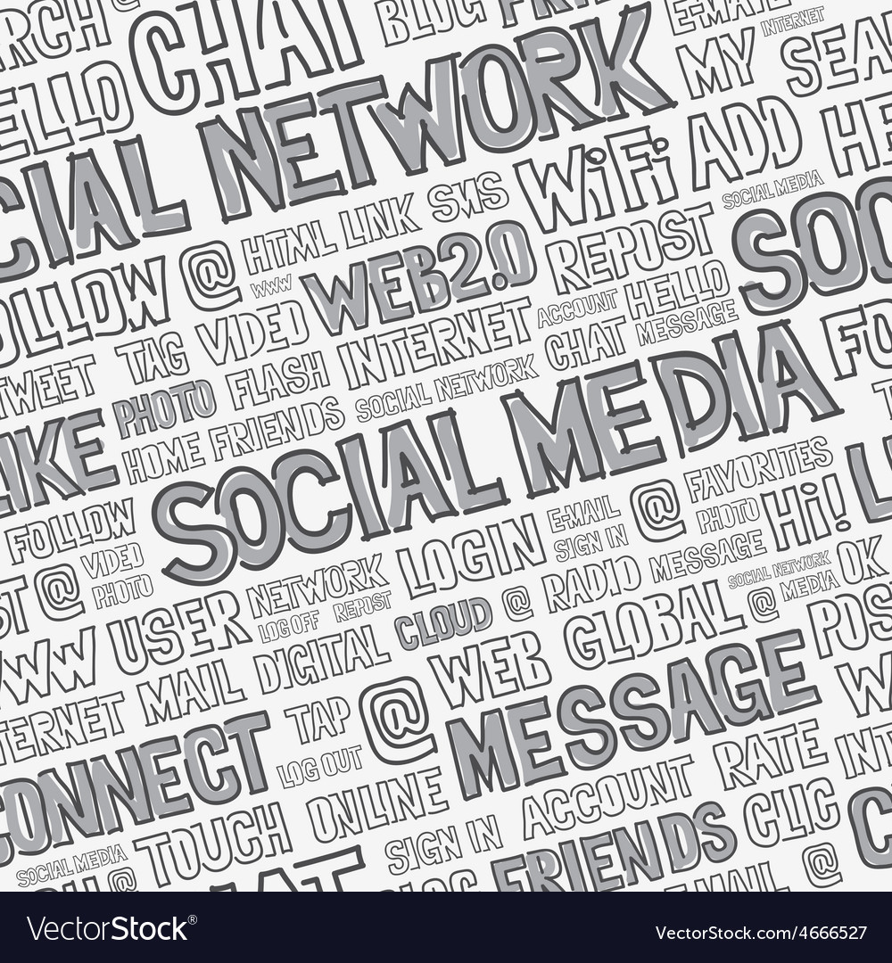 Social media words seamless pattern vector | Price: 1 Credit (USD $1)