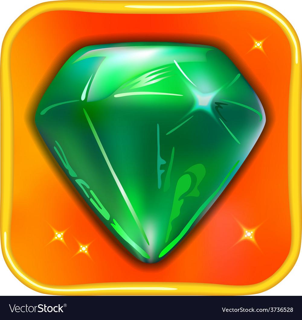 App game icon emerald vector | Price: 1 Credit (USD $1)