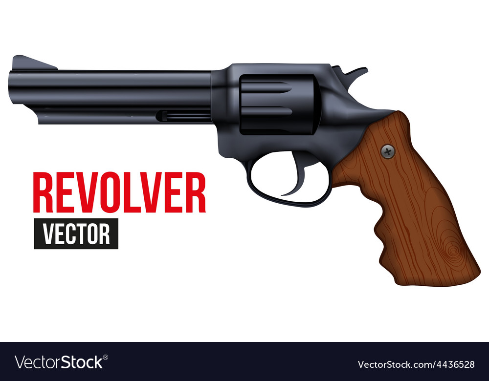 Big revolver black gun metal vector | Price: 1 Credit (USD $1)