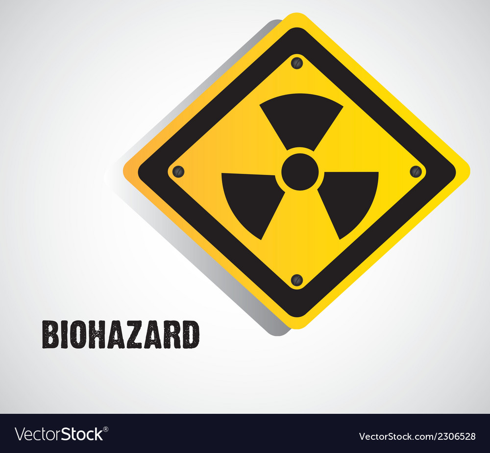 Biohazard sign isolate on white background vector | Price: 1 Credit (USD $1)