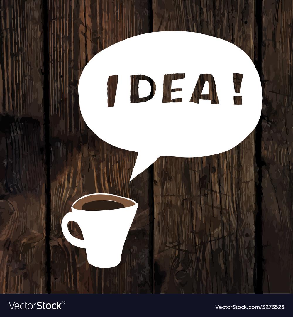 Coffee idea concept vector | Price: 1 Credit (USD $1)