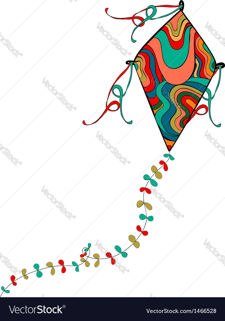 Colorful kite vector | Price: 1 Credit (USD $1)
