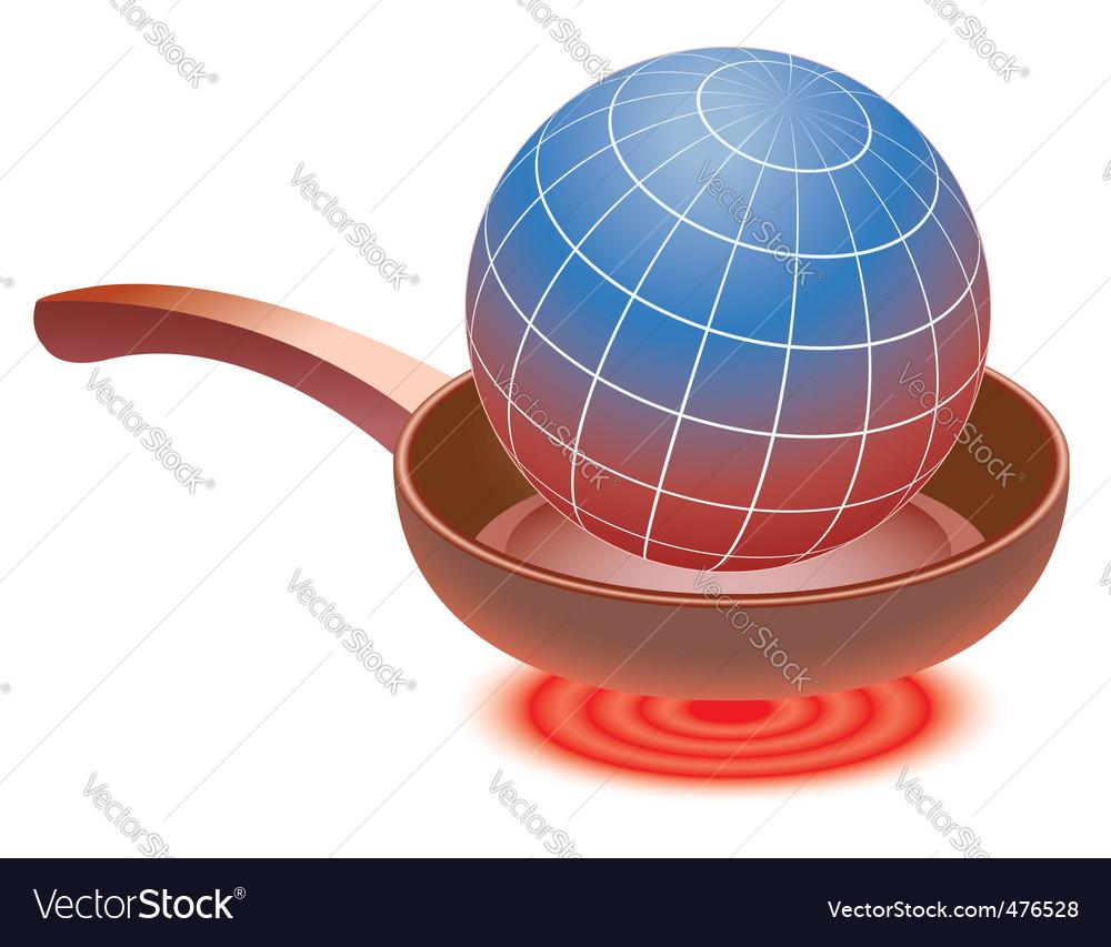Frying globe vector   Price: 1 Credit (USD $1)
