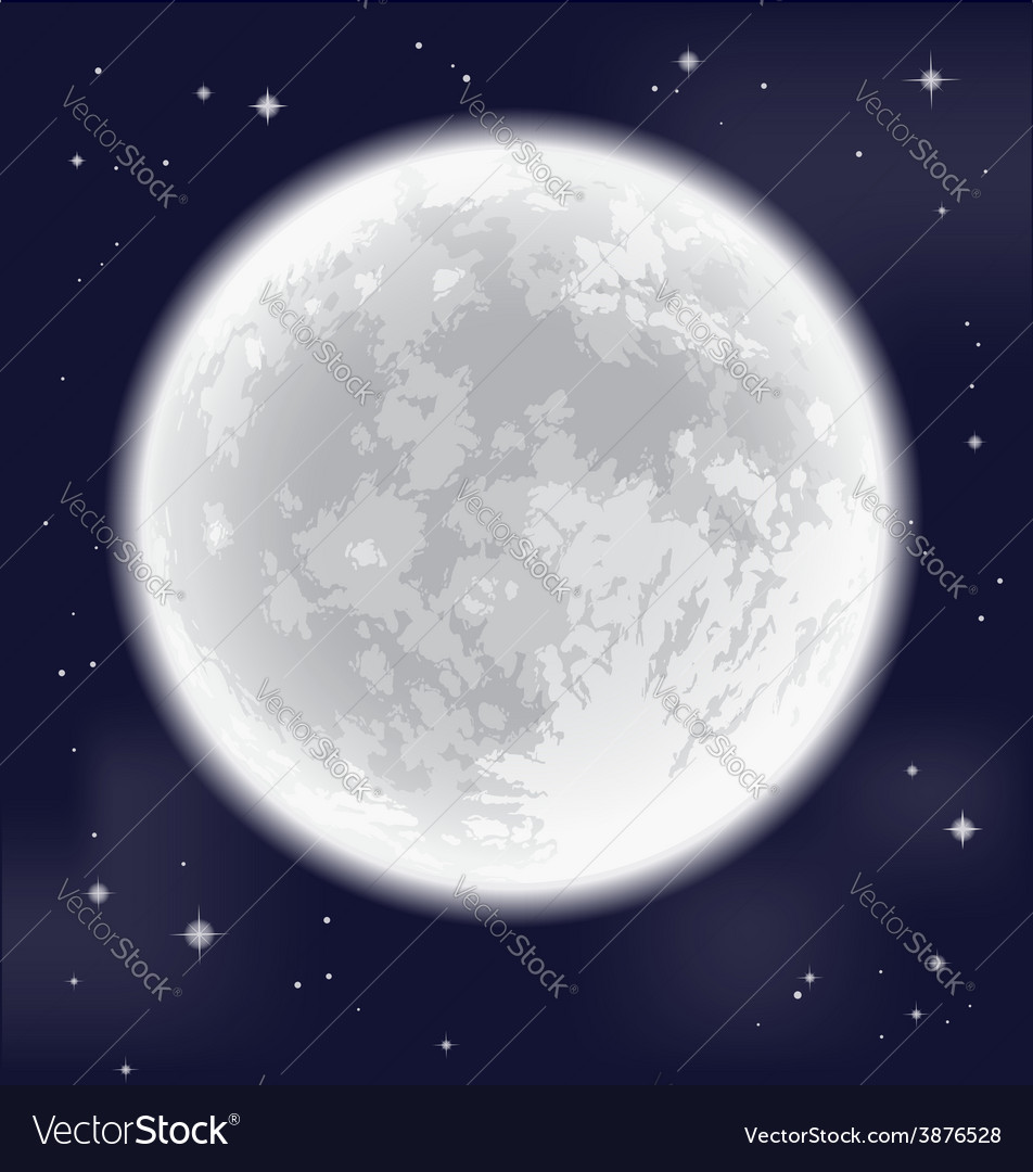 Full moon vector | Price: 1 Credit (USD $1)
