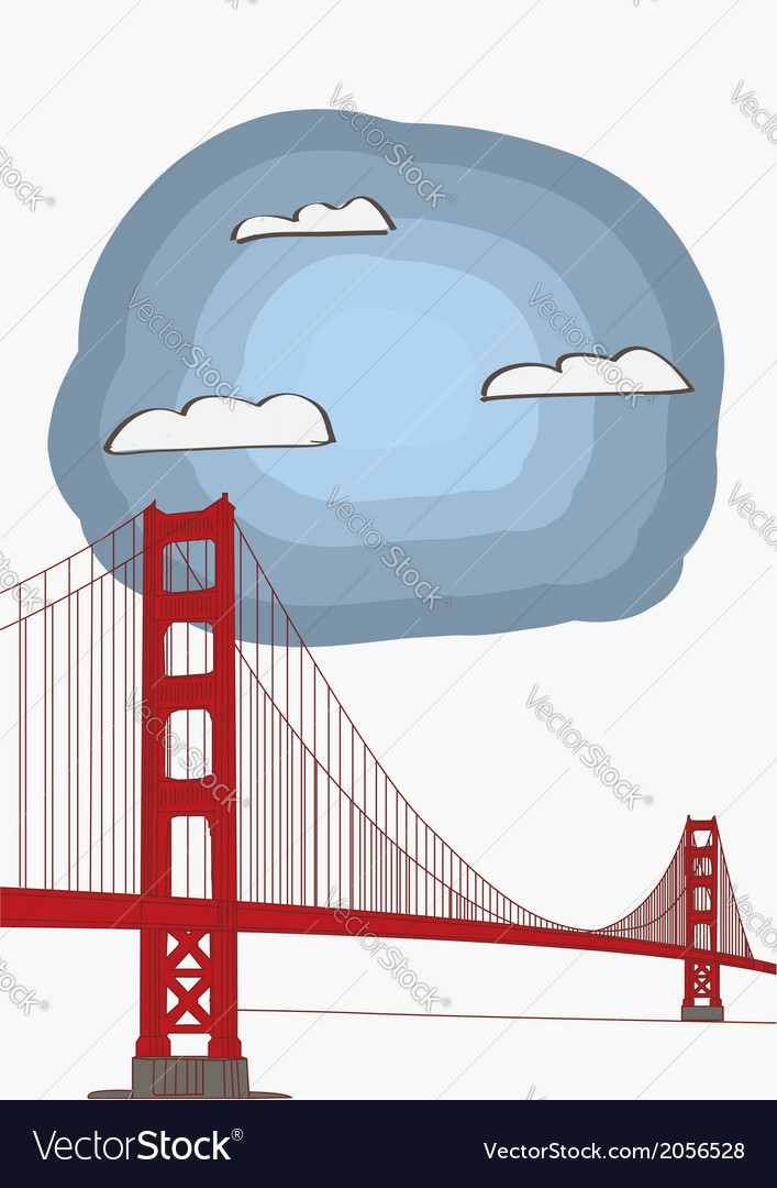 Golden gate bridge vector | Price: 1 Credit (USD $1)
