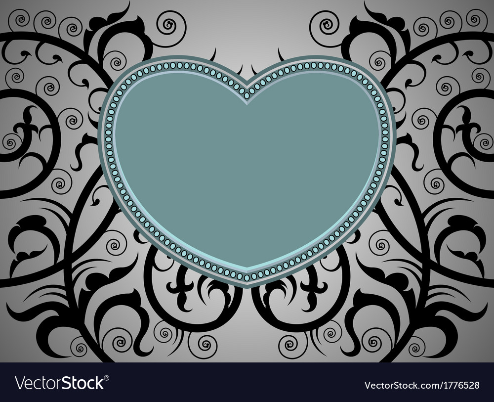 Heart shape tattoo art pattern background vector | Price: 1 Credit (USD $1)