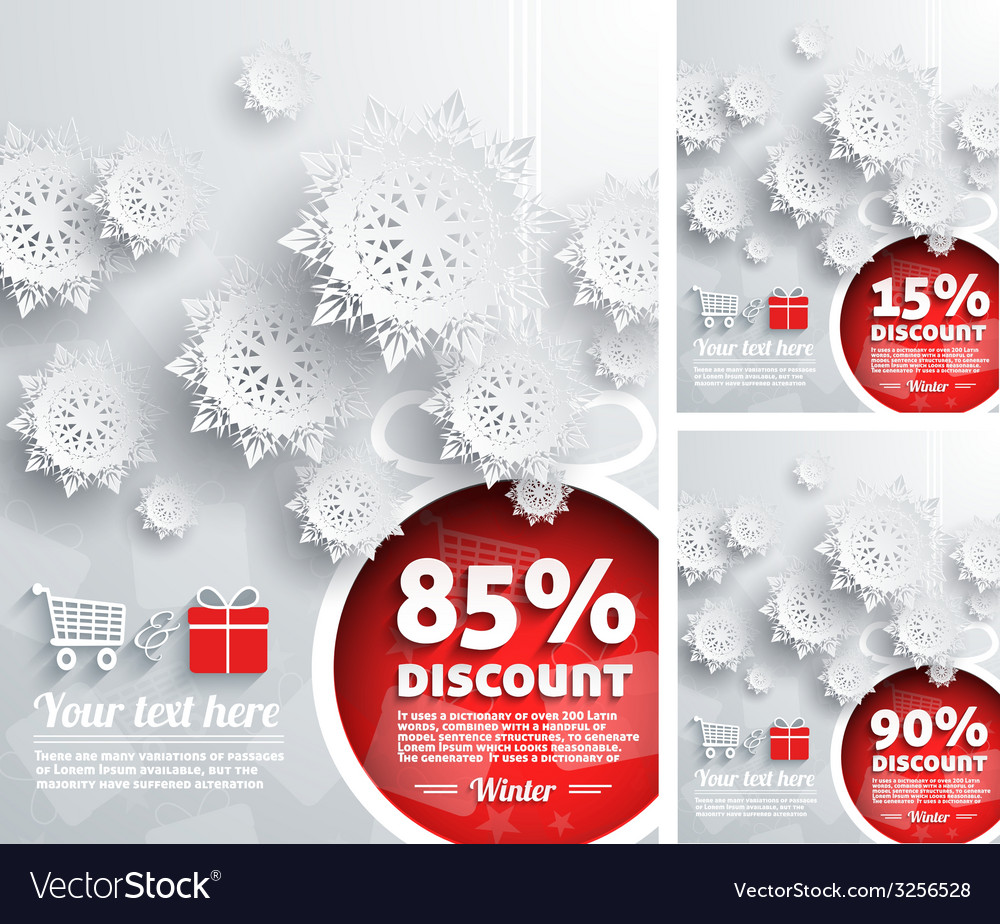 Merry christmas background discount percent vector | Price: 1 Credit (USD $1)
