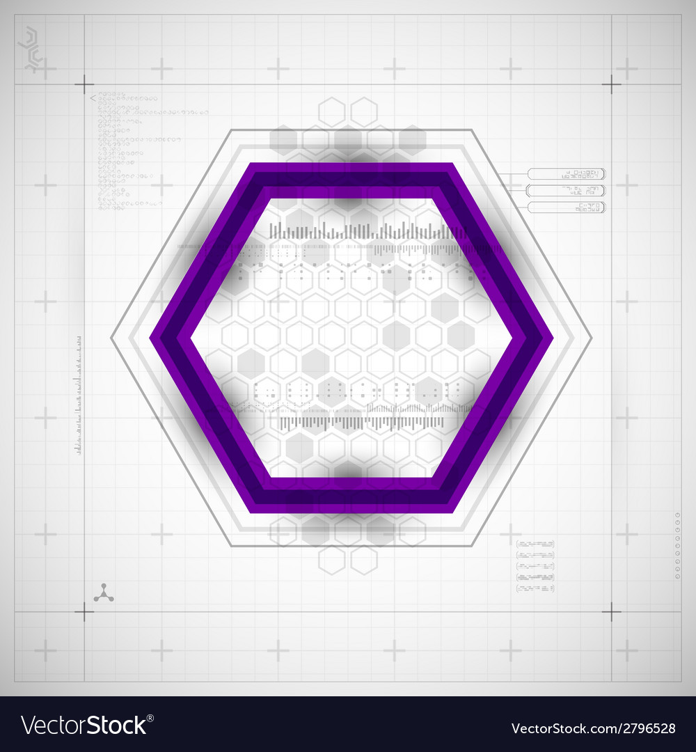 Modern hexagon background vector | Price: 1 Credit (USD $1)