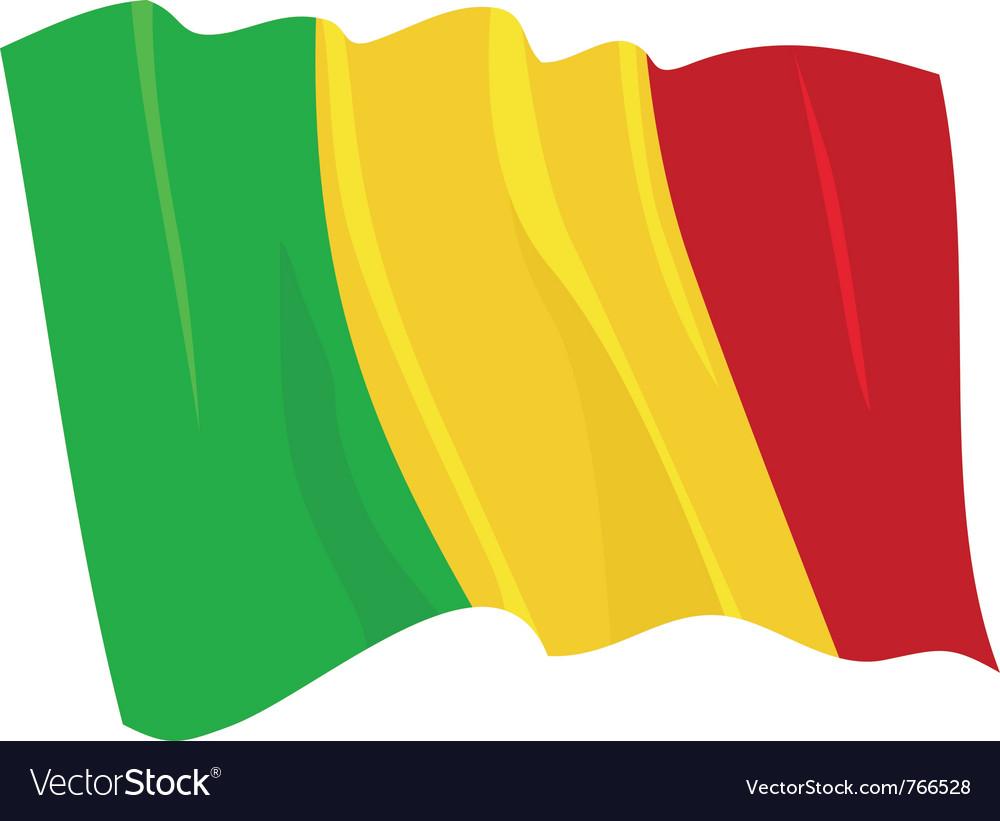 Political waving flag of mali vector | Price: 1 Credit (USD $1)