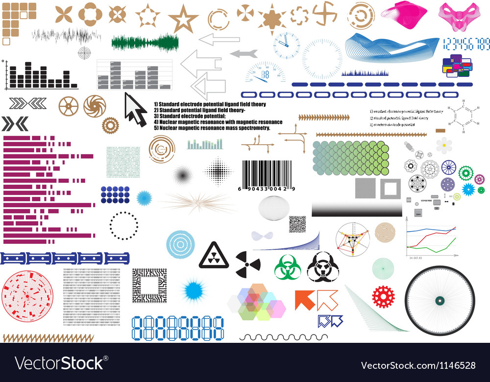 Set of different elements for design vector | Price: 1 Credit (USD $1)