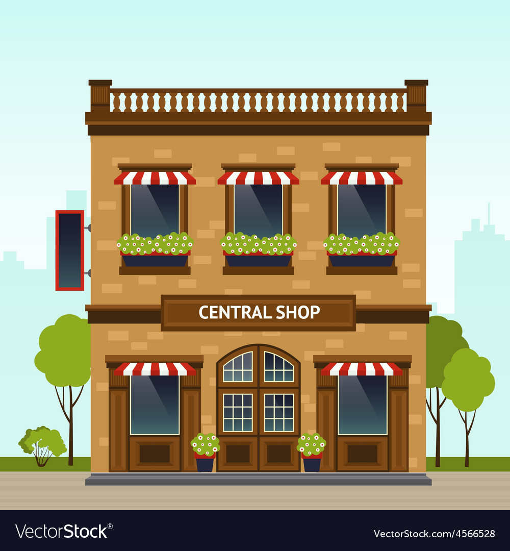 Shop facade vector | Price: 1 Credit (USD $1)