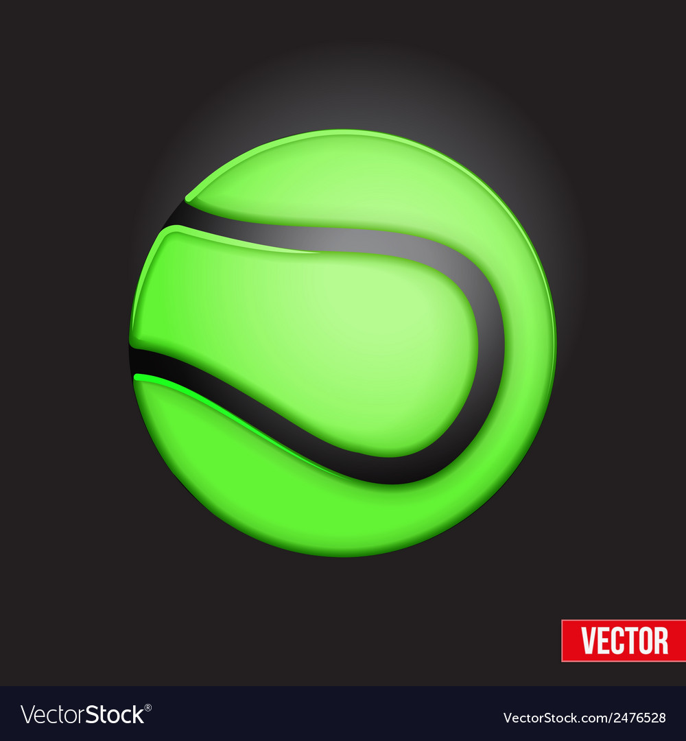 Symbol soft tennis ball vector | Price: 1 Credit (USD $1)