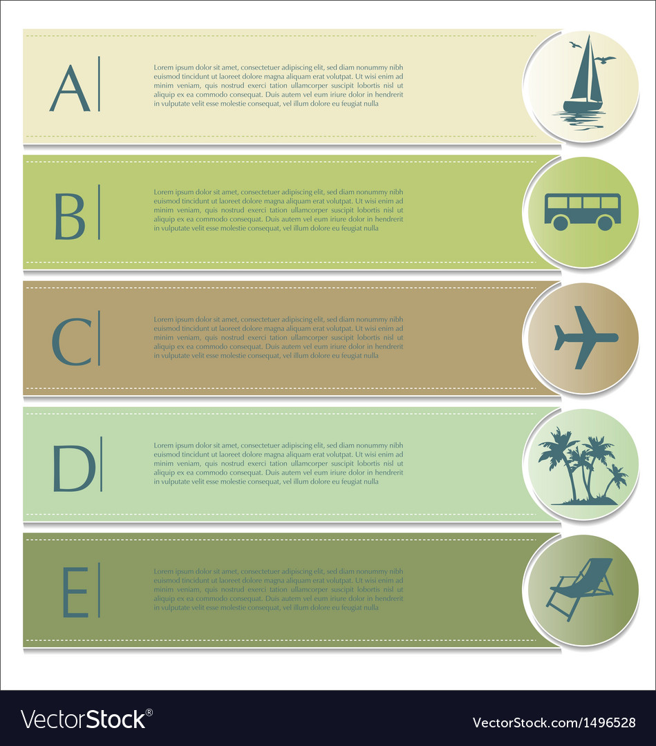 Travel infographics options banner vector | Price: 1 Credit (USD $1)