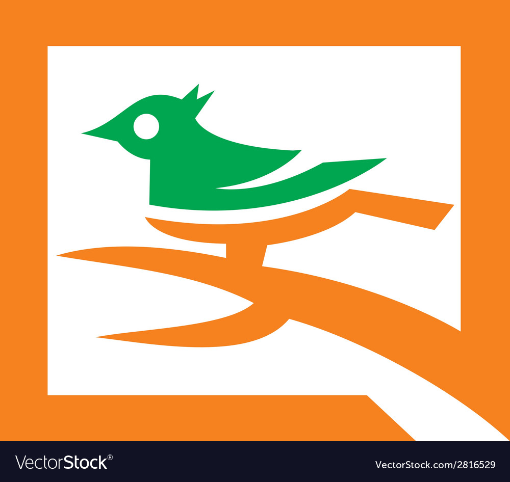 Analysis bird logo template vector | Price: 1 Credit (USD $1)
