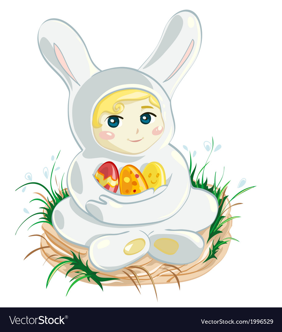 Baby easter bunny vector | Price: 1 Credit (USD $1)