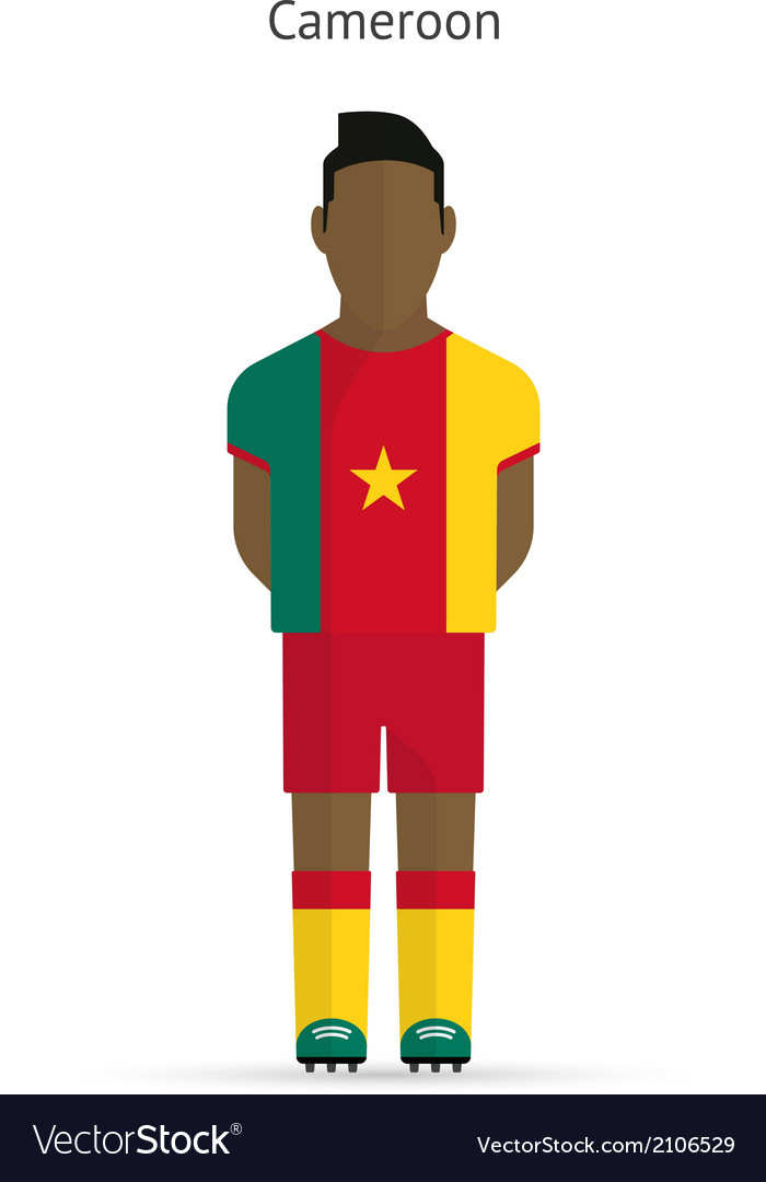 Cameroon football player soccer uniform vector | Price: 1 Credit (USD $1)